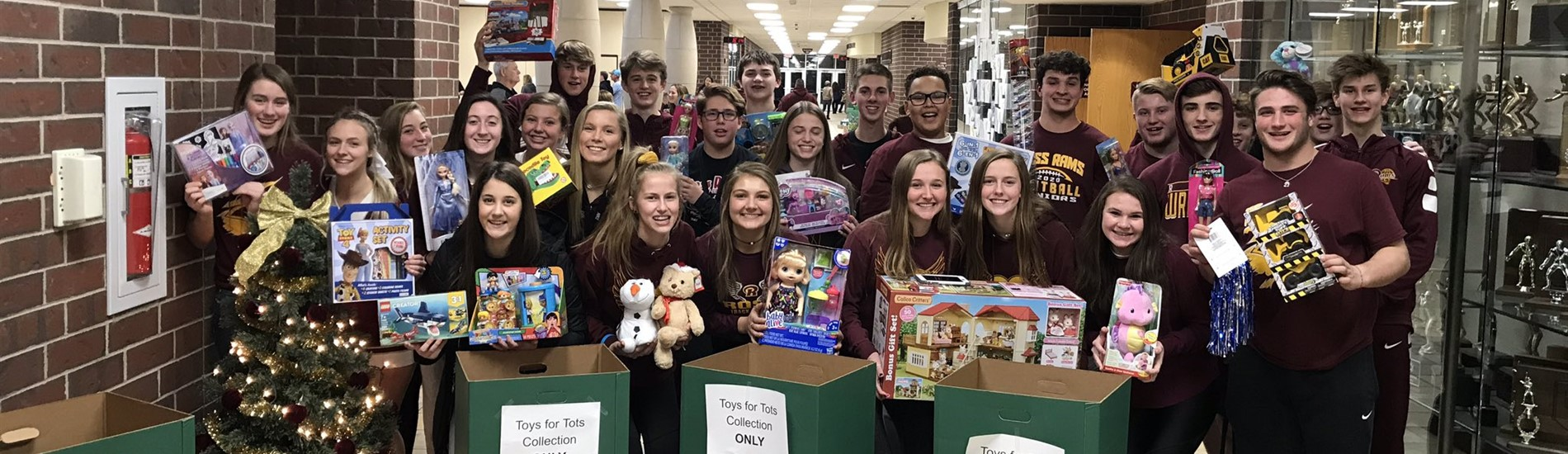 SALT collects Toys for Tots, sponsored by Rumpke!